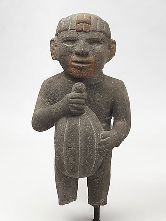 Aztec Man Carrying a Cacao Pod (1440-1521, from Wikipedia)